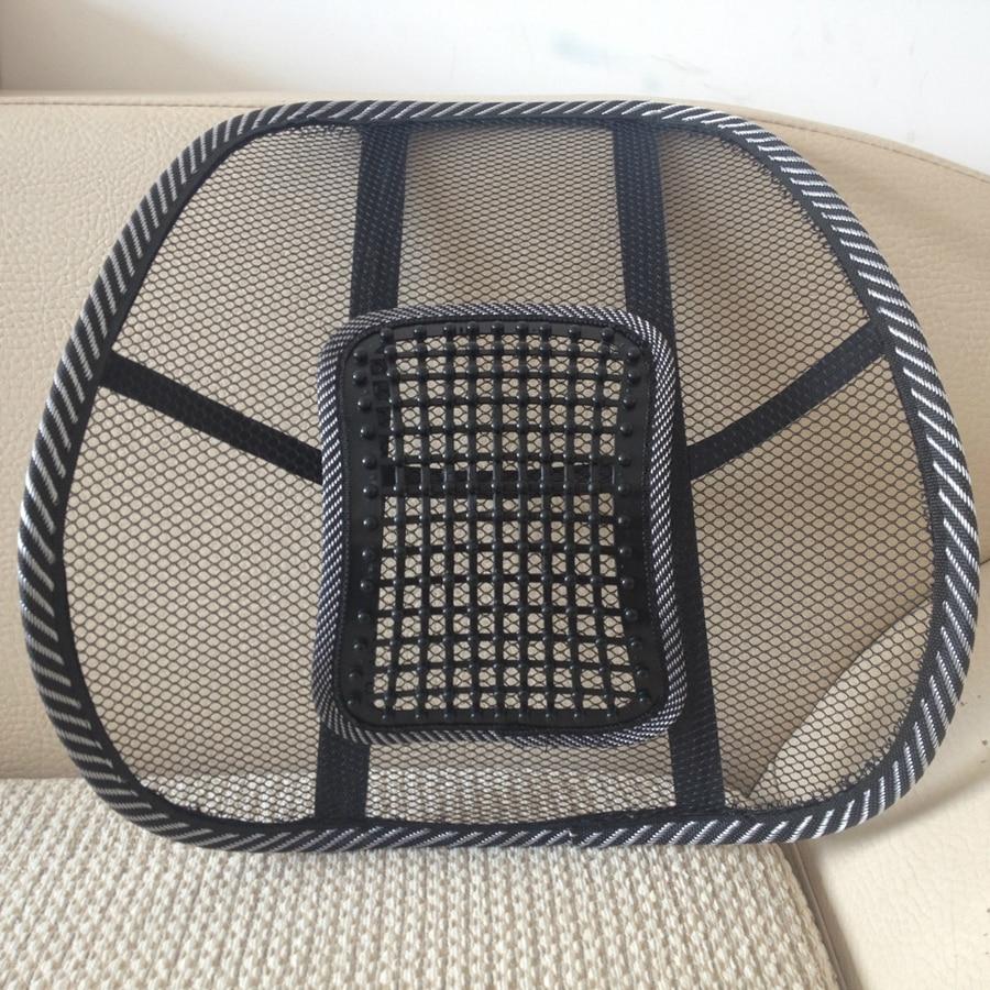 Handmade Summper Cool Car Seat Waist Cushion Chair Back Cushion Mesh Back Brace Massage Back Cushion Home Office Pad Support