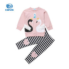 цена на Kids Baby Girls Clothing Outfit Top T-shirt Long Sleeve Pants Set 2pcs Cotton Toddler Autumn Clothes Tracksuit Girl 1-6T