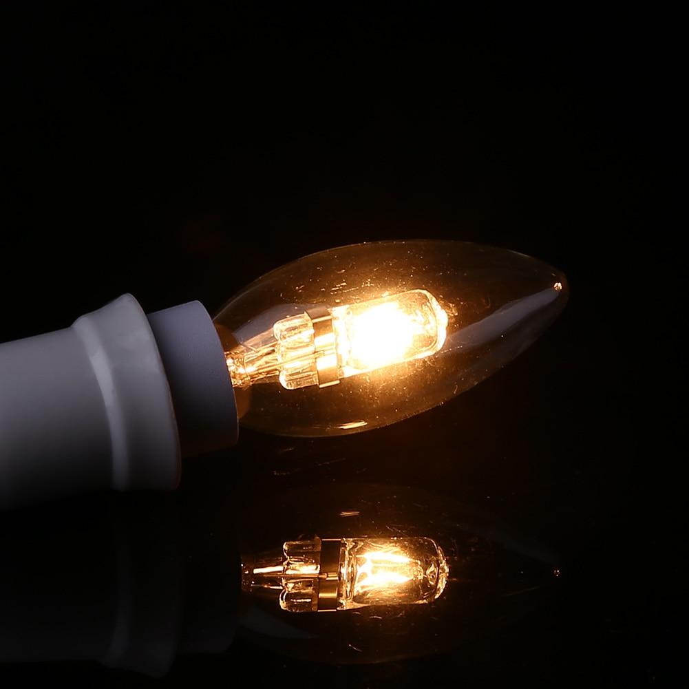 E14 для галогенных лампочек форма свечи энергосберегающее освещение Бытовые прочный