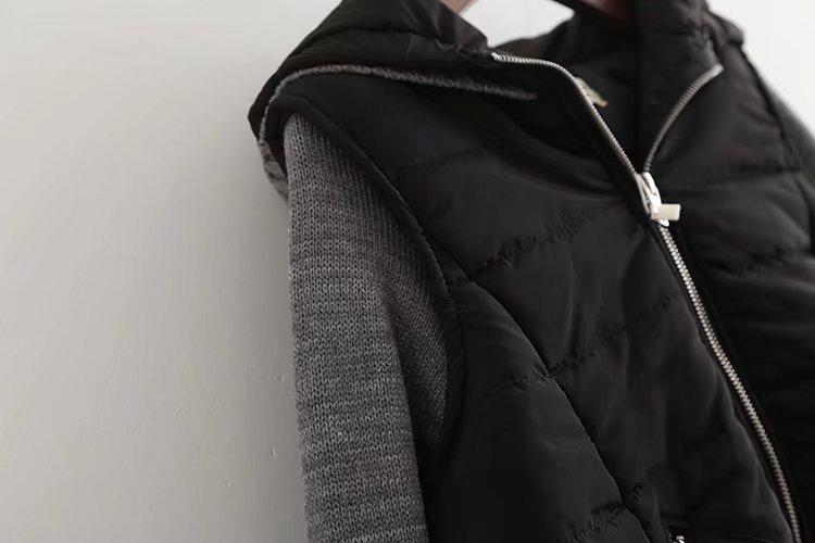 Hiver vent Coupe Glissière Chandail Longues Femmes Casual Veste Manches Patchwork Manteau À 2018 Gris Fermetures pYnda7nO