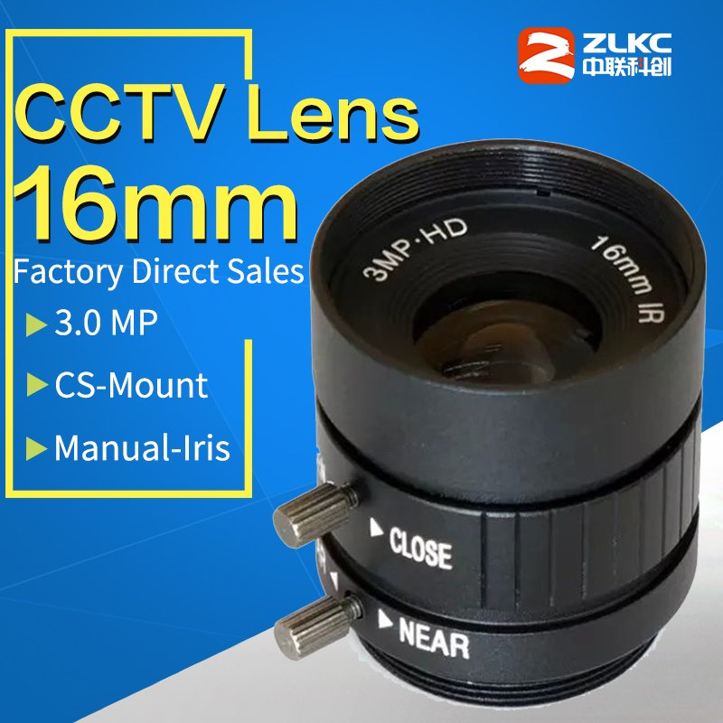 3 Mega Pixel,16mm Manual Iris Lens  Industrial Lens with 1/1.8 format & CS Mount FA / Machine Vision fixed focal length lenses3 Mega Pixel,16mm Manual Iris Lens  Industrial Lens with 1/1.8 format & CS Mount FA / Machine Vision fixed focal length lenses
