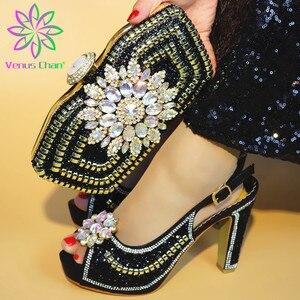 Image 2 - Son Sarı Renk ile İtalyan Ayakkabı uyumlu çanta Afrika Kadınlar için İtalyan Ayakkabı ve çanta seti Nijeryalı Kadınlar Düğün Ayakkabı ve Çanta