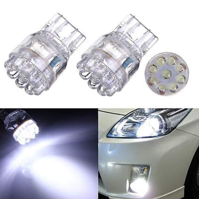 JX-LCLYL 2pcs <font><b>T20</b></font> <font><b>7443</b></font> 7440 9LED Turn Signal Brake Tail Lamp Light Bulb White image