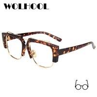 5c5629b88bb14f Luxury Leopard Glasses Frame Women Fancy Brand Designer Unique Transparent  Eyeglasses Frame Female Clear Lens No