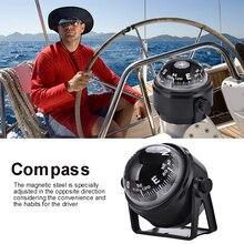 Черный Электронный Регулируемый военный морской шар, компас ночного видения для лодки, транспортного средства, пешего туризма, направляющий шар