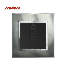 Mvava TEL Outlet Telephone Phone Jack Plug Port Wall Socket 110-250V Satin Metal Panel UK EU Standard RJ11 Socket Free Shipping free shipping 86 standard tv and tel wall switch socket panel eu uk television telephone wall socket