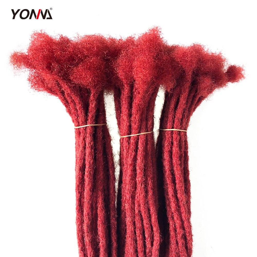 Human Hair Dreadlocks Microlocks Sisterlocks Remy Hair Extensions 40Locs Full Handmade (0.8cm Width)