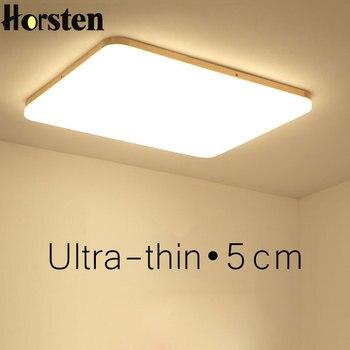 โมเดิร์น LED โคมไฟเพดาน Ultra-thin 5 ซม.โคมไฟเพดานโคมไฟห้องนั่งเล่นห้องนอนห้องครัวรีโมทคอนโทรลเพดาน...