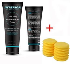 Image 1 - Wnętrze auta zaawansowane pielęgnacji skóry nawilżający środek zasadnicze znaczenie dla wnętrza samochodów/meble + 12 sztuk miękkie woskowanie gąbka piankowa