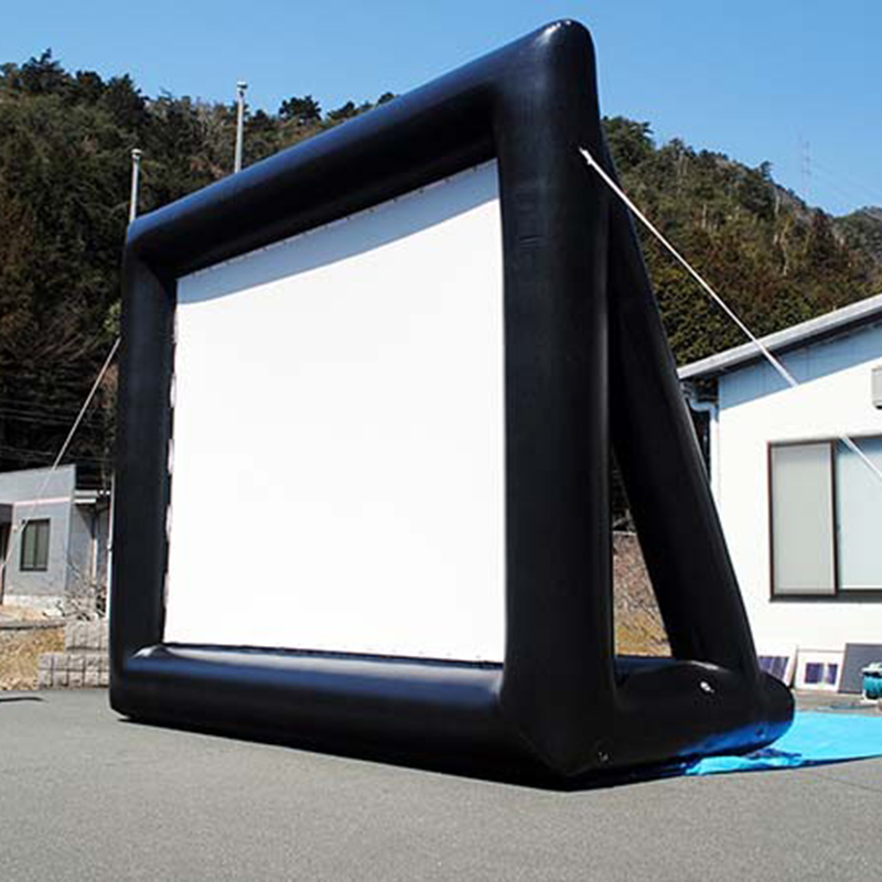 4.4mx2.5m 16:9 Inflatable Movie Screen Inflatable Rear Projection Movie Screen Inflatable Film Screen