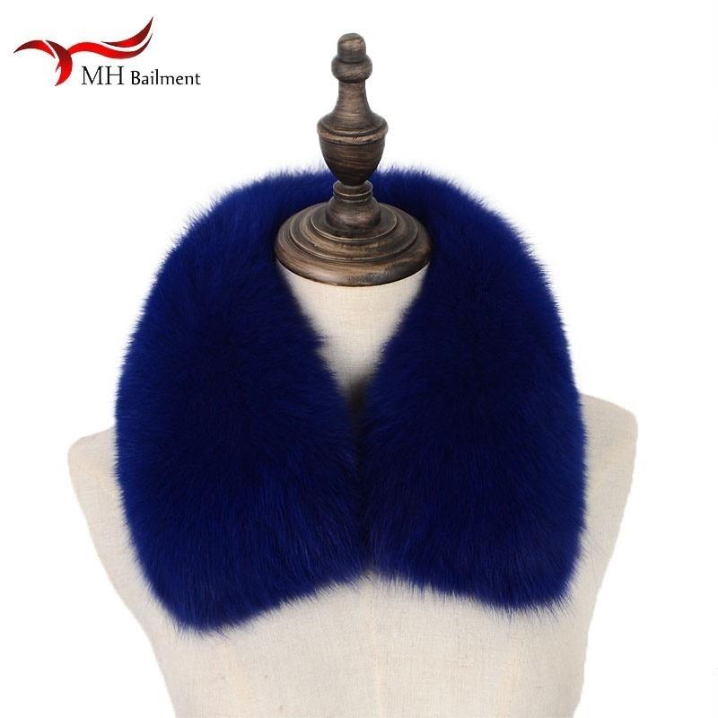 Kind-Hearted Women Leather Scarf Winter Warm Fur Collar Shawl Short Scarf Really Fox Fur Coat Collar Ladies Natural Fox Scarf Collar Scarf W4 Various Styles Women's Scarf Sets
