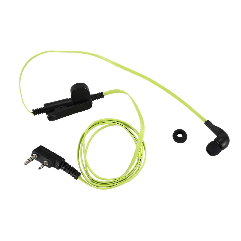 2 Pin Noodle Style słuchawka douszna K wtyczka słuchawka zestaw słuchawkowy do Baofeng Uv5R Bf-888S Uv5R Radio