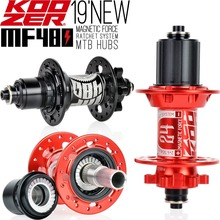 2019 KOOZER MF480 Front Rear Hub Set 2/4 Bearings 24T Ratchet 32 Holes Quick Release Thru Axle Mountain Bike hubs For 8 9 10 11S