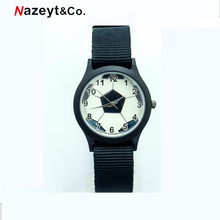 Nazeyt nylon football watch children promotion gift boys and girls colorful nylo