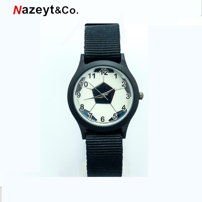 Nazeyt Nylon Football Watch Children Promotion Gift Boys And Girls Colorful Nylon Sports Watch Middle Student Clock