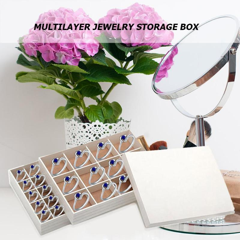 Simple Jewelry Box Multi Layer Ring Earring Holder ...