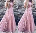 Xnxee Frauen Abend Party Kleid 2018 Sleeveless Oansatz Sexy Lange Kleid Frauen Elegante Spitze Kleid Sommer Maxi Kleid S-2XL