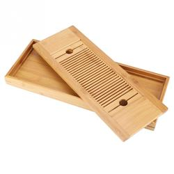 Home Office Bamboo Tea Tray Tea Set Drawer Drainage Water Storage Kung Fu Tea Room Board Table Chinese Ceremony Tool Tea Tray