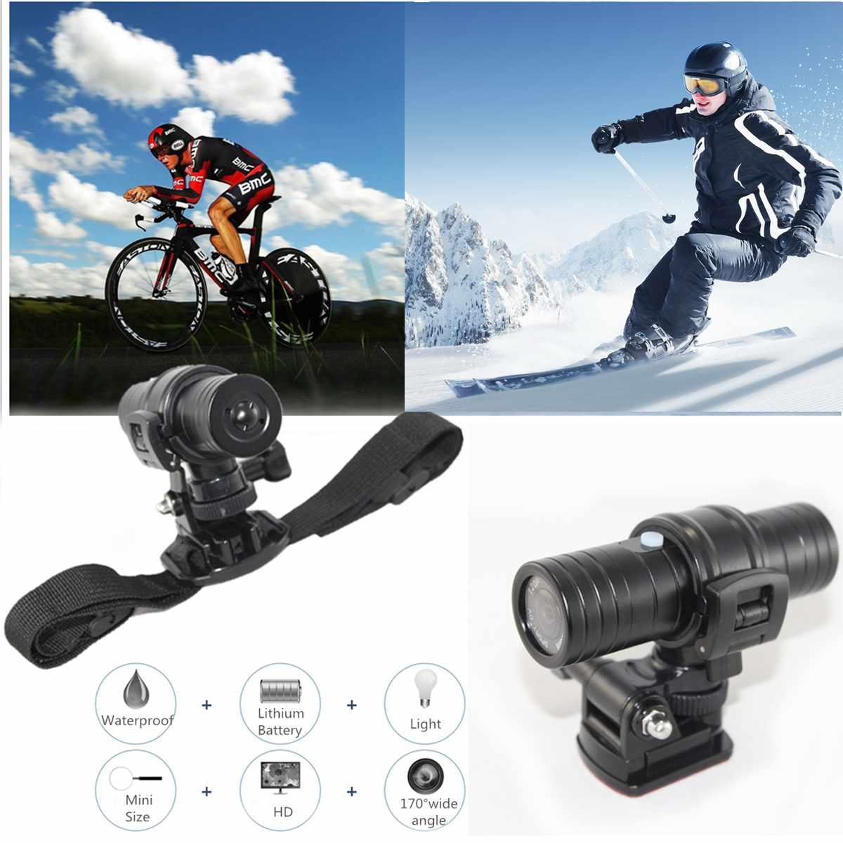 1080 P étanche Sport caméra casque moto cyclisme DVR enregistreur vidéo dérive fantôme Mini Sport de plein air DV avec accessoires ensemble