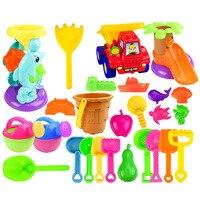 26Pcs/set Outdoor Summer Beach Sand Toys Beach Bucket Water Playset for Kids Fun 2019 New Arrival Random Color