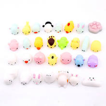 1/5/10/25PCS Stress Relief Toy Mini Mochi Squishy Toys Squishies Animals Stress Toys Xmas Gift Hot Squeeze Toys(China)