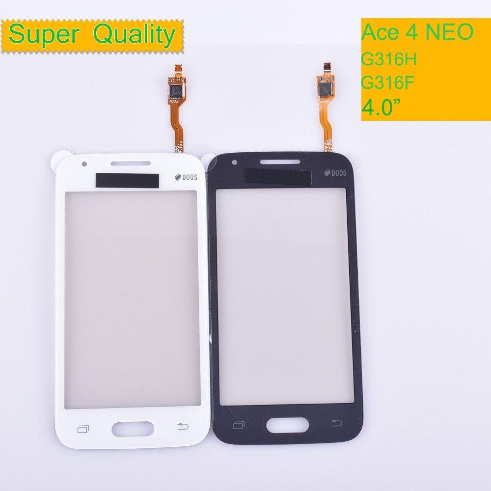 10pcs G316 For Samsung Galaxy Ace 4 Neo G316M G316H G316F Touch Screen Panel Sensor Digitizer Front Glass Lens Touchscreen