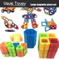 Vavis Tovey 30 200pcs Magnet Toys Building Blocks Magnetic Construction Sets Designer Kids toddler Toys brinquedos Gifts