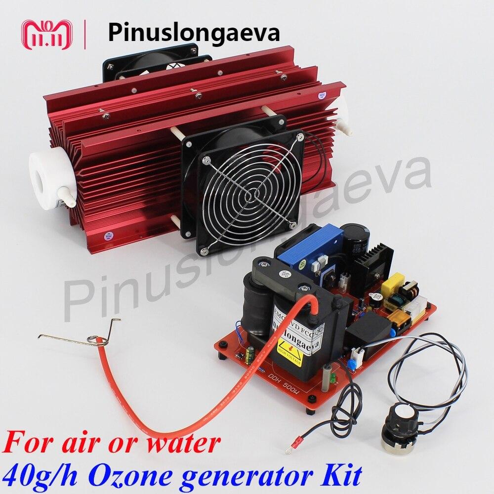 Pinuslongaeva 40 g/h 40 grammes réglable type de tube de Quartz générateur d'ozone Kit ozonateur d'eau pour la stérilisation de l'air de stockage des aliments