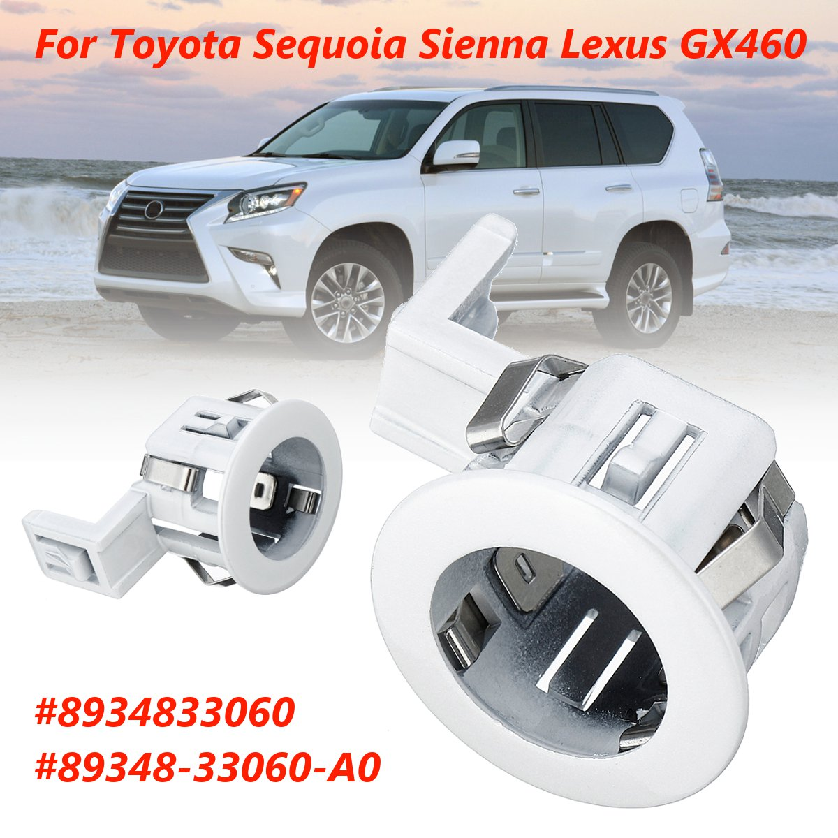 US $1 55 37% OFF|Parking Sensor Retainer PDC For Toyota Sequoia Sienna for  Lexus GX460 8934833060 89348 33060 A0-in Parking Sensors from Automobiles &
