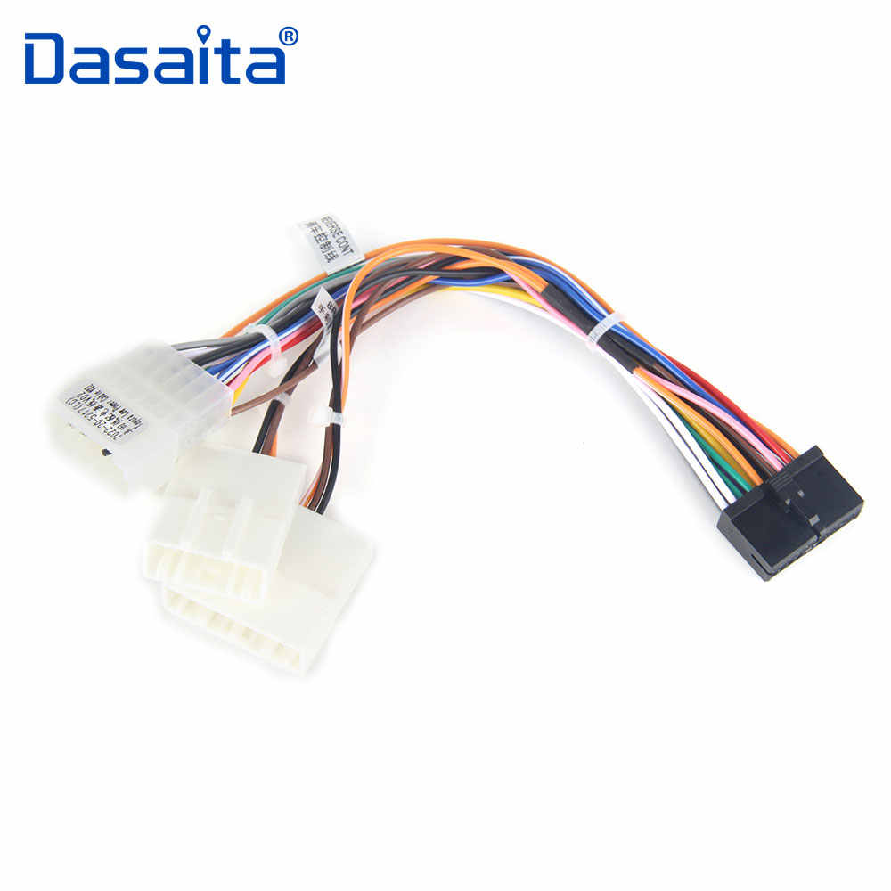 hight resolution of dasaita car dvd audio wire harness adapter factory radio cable swc for toyota corolla rav4 camry