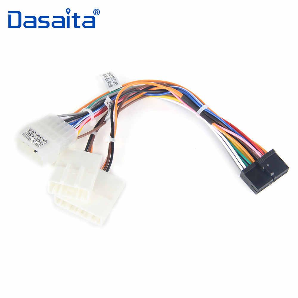dasaita car dvd audio wire harness adapter factory radio cable swc for toyota corolla rav4 camry [ 1000 x 1000 Pixel ]