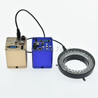 HD 1080P Industrial Digital Video Electron Microscope Camera HDMI VGA USB Outputs with Adjustable Ring LED Light Source