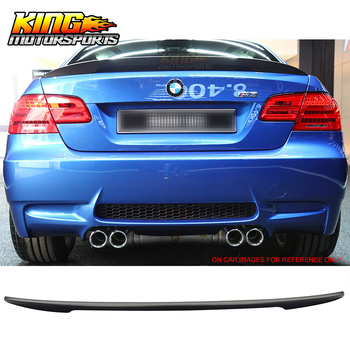 Fit For 07-13 BMW E92 Coupe 328i 335i M3 Performance High Kick Rear Trunk Spoiler Wing ABS Unpainted image