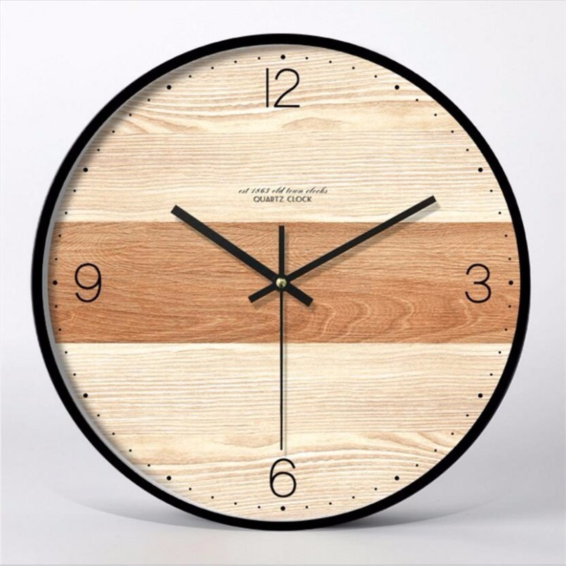 New 3D Wall Clock Silent Movement Simple Wall Clock Modern Design 12inch 14inch Personality Fashion Mute Large Clock Home Decor in Wall Clocks from Home Garden