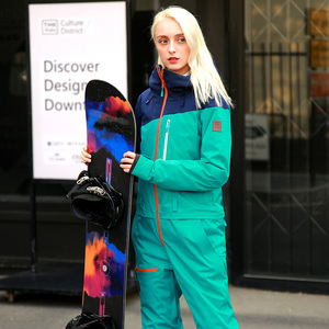 Image 4 - RUNNING RIVER Brand Waterproof Jacket For women Snowboard Suit women Snowboard Jacket Female Snowboarding Set Clothing #B8091