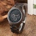 Роскошные мужские деревянные часы  кварцевые часы с хронографом  маленький циферблат  деловые наручные часы для мужчин  ультра-легкие дерев...