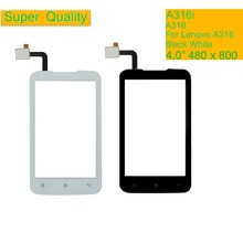 10Pcs/lot For Lenovo A316 A316i Touch Screen Digitizer Touch Panel Sensor Front Outer Glass Lens Touchscreen NO LCD 4.0