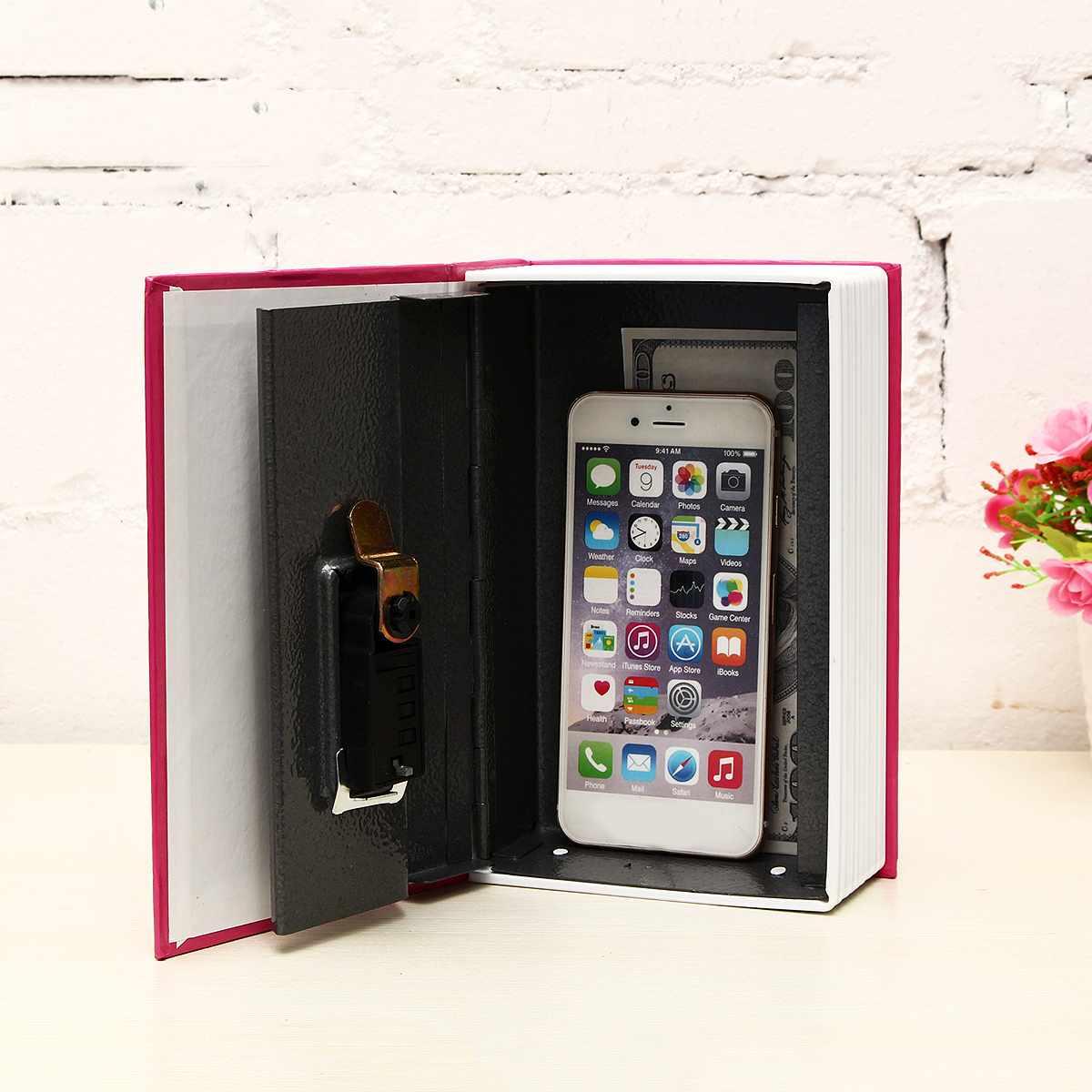18x11.5x5.5cm Password Safe Deposit Box Mini Home Storage Box Crafts Book Secret Security Safe Lock Cash Money Coin Storage