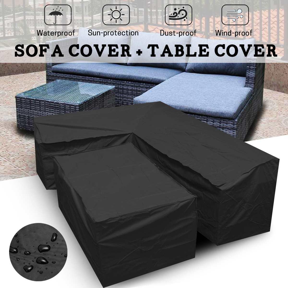 Waterproof Outdoor Patio Garden Furniture Covers L Shape