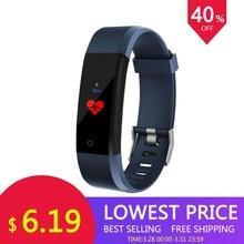 Новый 115 плюс 0,96 дюймов цветной экран умный Браслет Спорт Смарт-часы кровяное давление упражнения динамический контроль сердечного ритма Шаг C