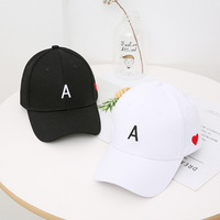 Spring and summer letter Embroidered Baseball Cap children's Street couples leisure outdoor hat simple shading trend