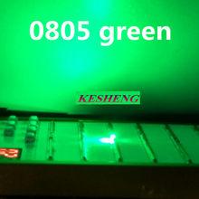 1000 pces ultra brilhante 0805 smd led verde novo lighte 560-575nm 70-200mcd i (ma): 20ma 2.0*1.2*0.8mm