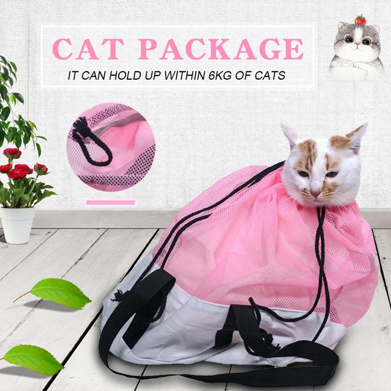 US $9 02 35% OFF|Pet Cat Multi function Bathing Injection Holding Travel  Carry Bag Cleaning Supplies-in Litter & Housebreaking from Home & Garden on