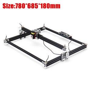 Image 2 - 12V Mini 5500mW 65*55cm Blue CNC Laser Engraving Machine 2Axis DIY Home Engraver Desktop Wood Router/Cutter/Printer Machine Tool