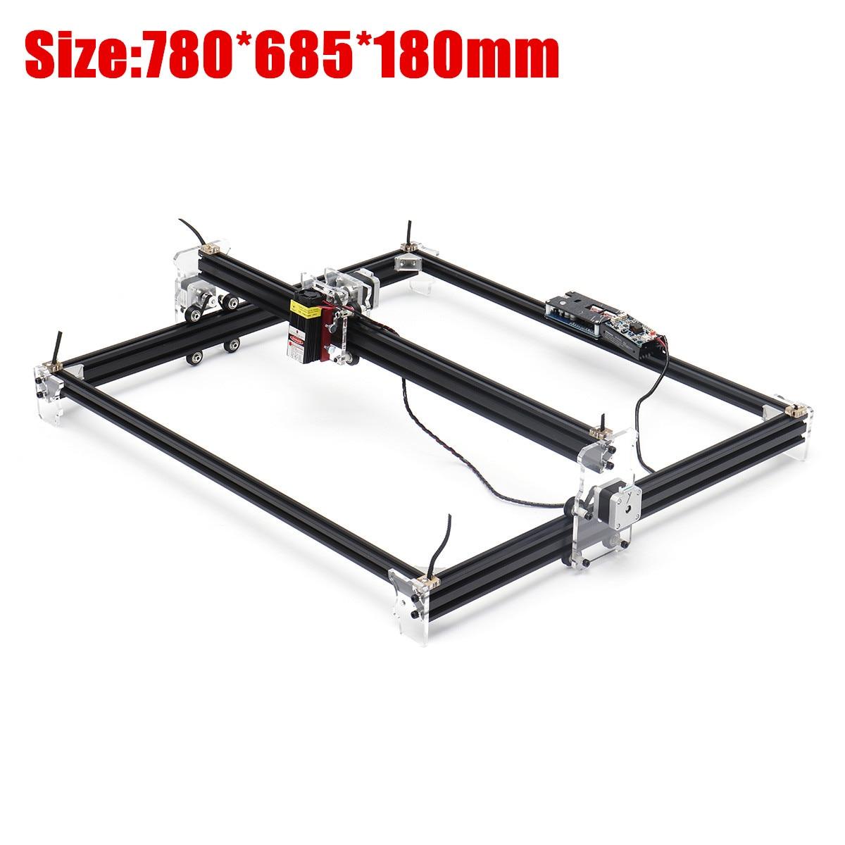 12V Mini 5500mW 65*55cm bleu CNC Machine de gravure Laser 2 axes bricolage maison graveur bureau bois routeur/Cutter/imprimante Machine-outil - 3