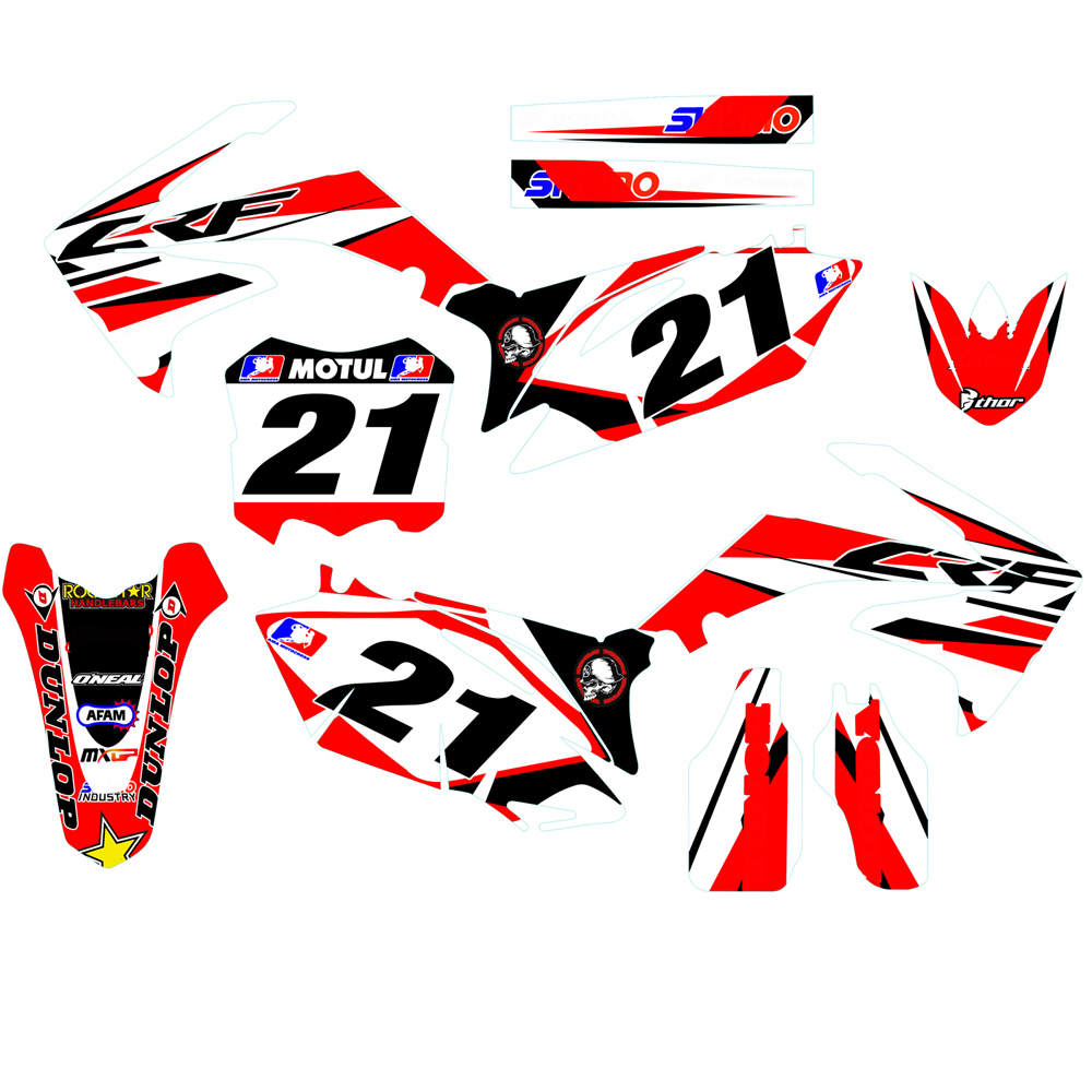 2010 2011 2012 2013 CRF250R motorcycle motocross graphics kit DECALS stickers for honda CRF 250R CRF250