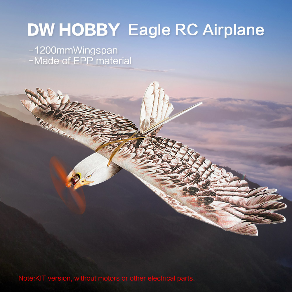RC Animal Aircraft Biomimetic Eagle EPP Eagle EPP Mini Slow Flyer 1200mm Wingspan RC Airplane KIT
