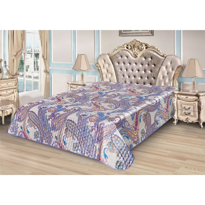 Bedspread Ethel Silk Mediterranean Style, size 220*240 cm, artificial Silk 1 китаро kitaro silk road 1