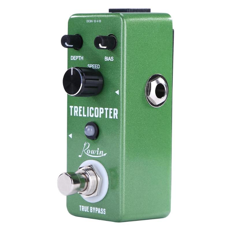 Rowin LEF 327 Zinc Alloy Trelicopter Effects Guitar Tremolo Pedal True Bypass for Musical Instrument Guitar Accessories-in Guitar Parts & Accessories from Sports & Entertainment on AliExpress - 11.11_Double 11_Singles' Day 1