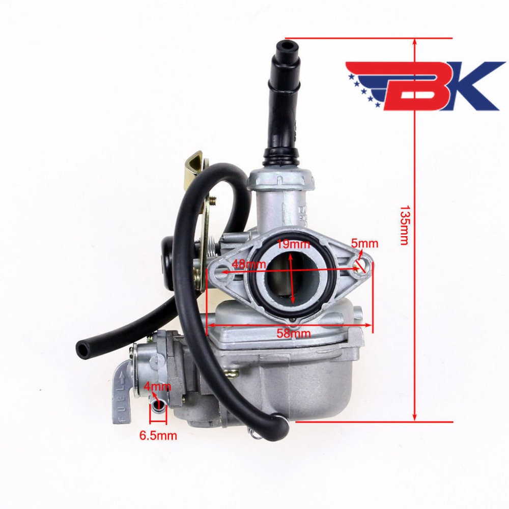 Painstaking 19mm Carburetor Carb W/ Fuel Cable Shock Valve Pz19 For Honda Ct St 70 90 110 125cc Kazuma Taotao Sunl Dirt Bike Atv Quad Atv Parts & Accessories